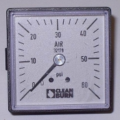 GAUGE AIR SQUARE 0-60- 500 BRN 32179